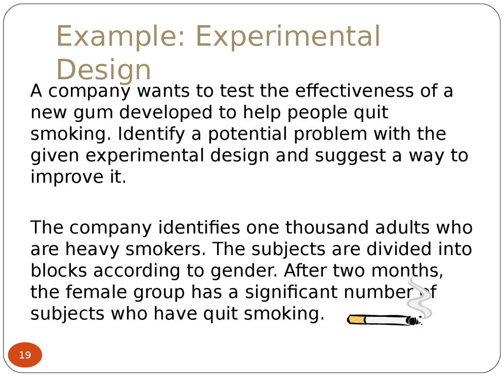 Qualitative experimental study designs