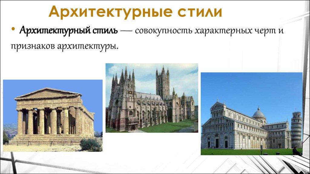 архитектурные стили и их особенности таблица с картинками кровли