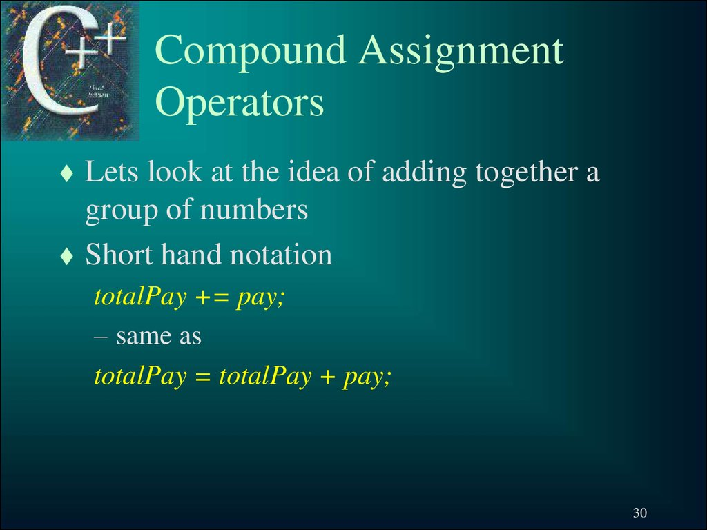 Compound Assignment Operators