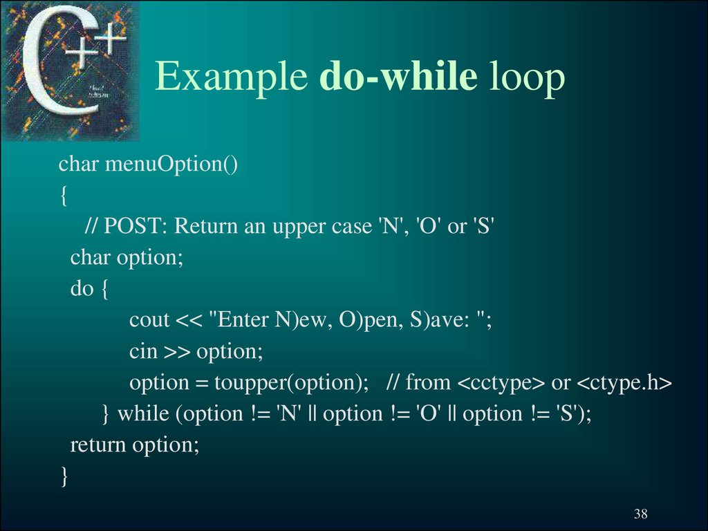 Example do-while loop