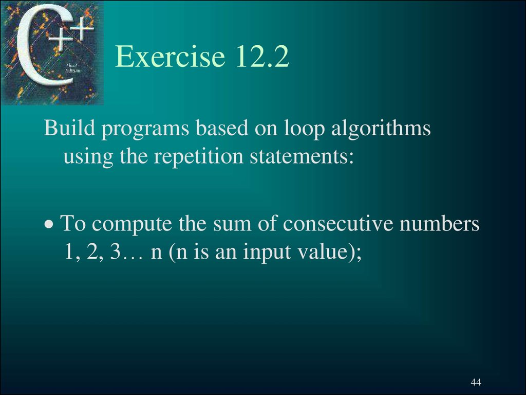 Exercise 12.2