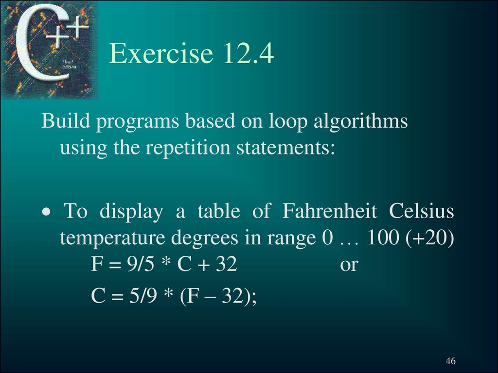 Exercise 12.4