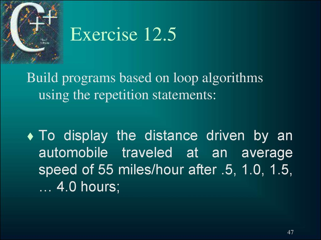 Exercise 12.5