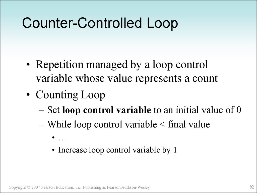 Counter-Controlled Loop