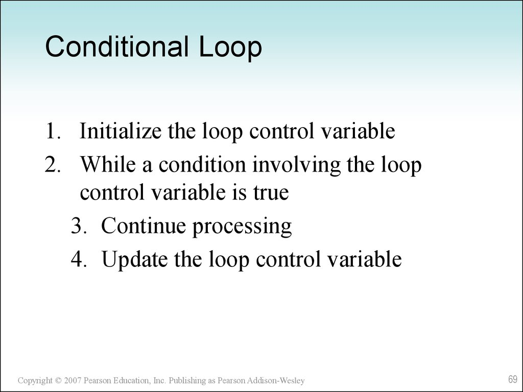 Conditional Loop