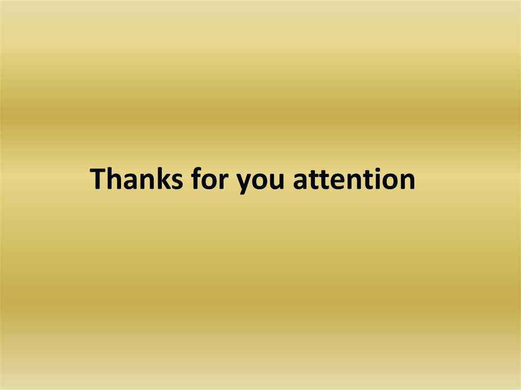 Thanks for you attention