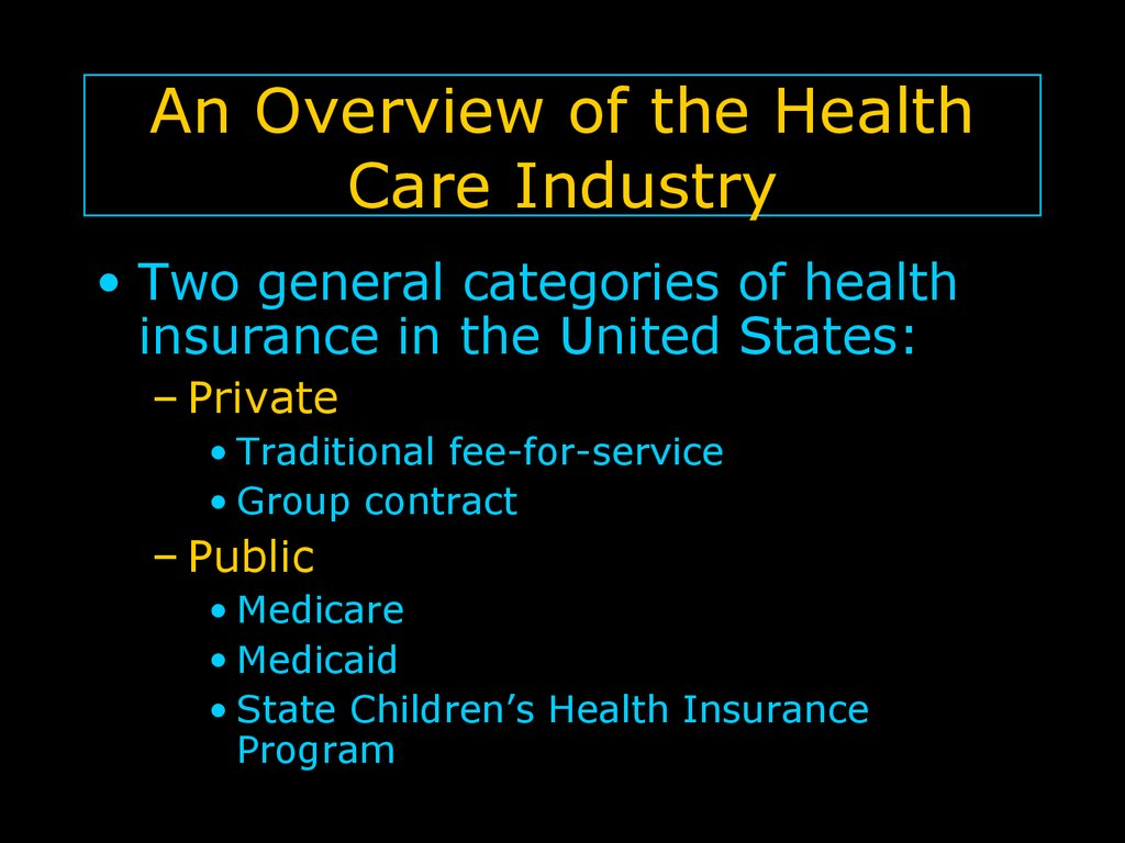 An Overview of the Health Care Industry