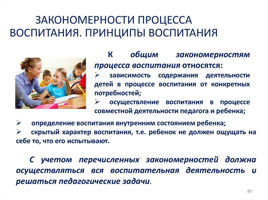 Закономерности и принципы воспитания детей раннегои дошкольного возраста..шпаргалка