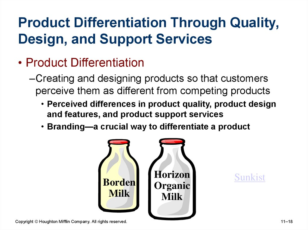 Product Differentiation Through Quality, Design, and Support Services