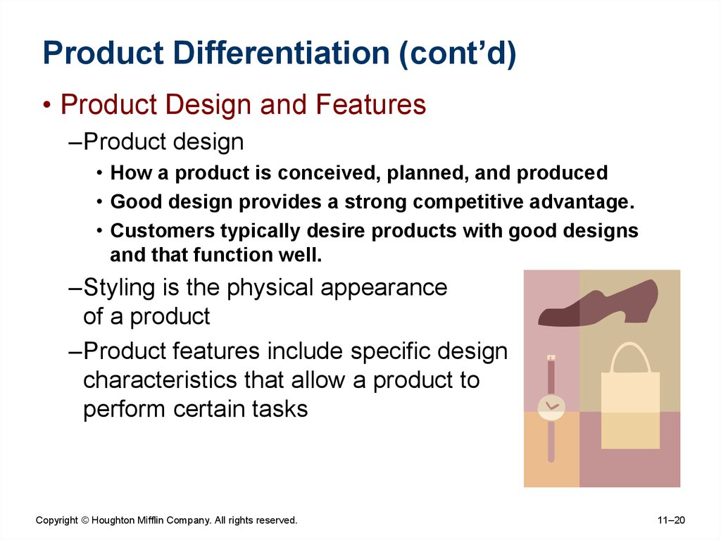 Product Differentiation (cont'd)