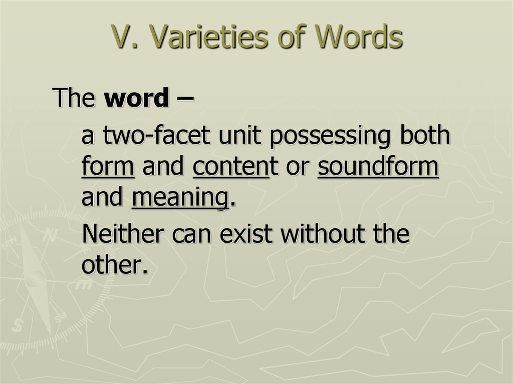 V. Varieties of Words