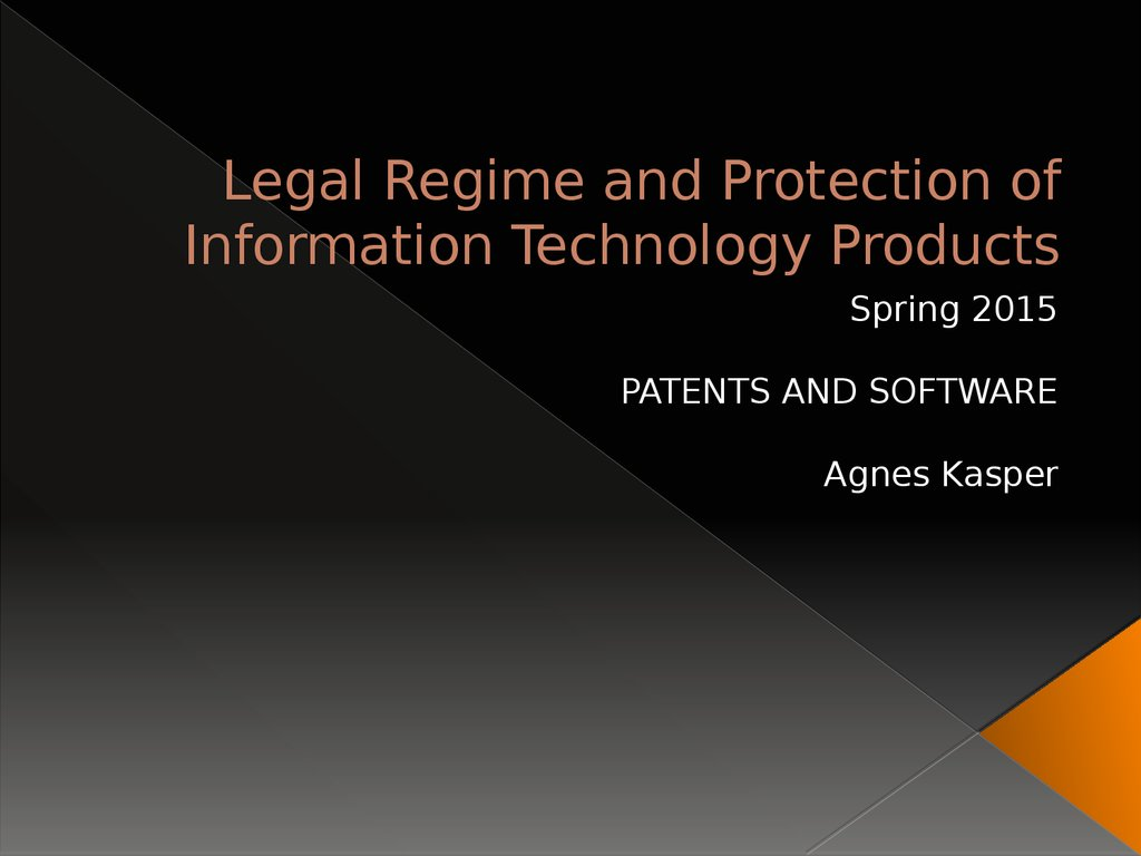 Legal protection of information