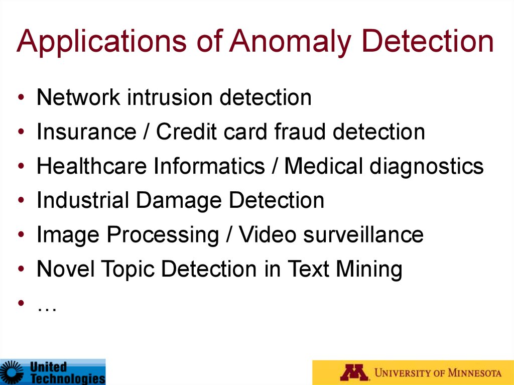 Applications of Anomaly Detection
