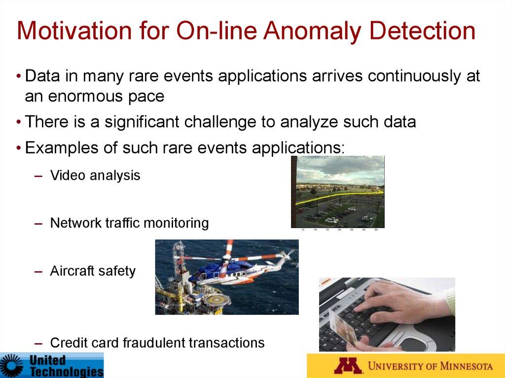 Anomaly detection - online presentation