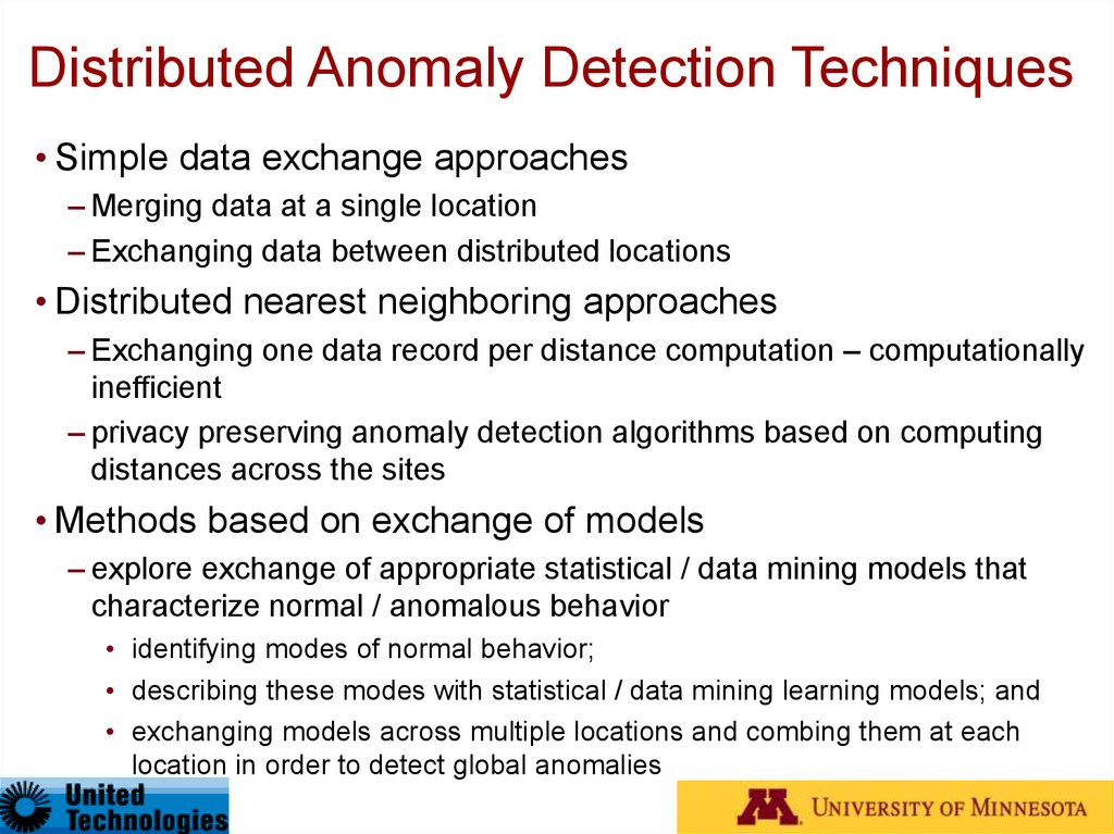 Need for Distributed Anomaly Detection