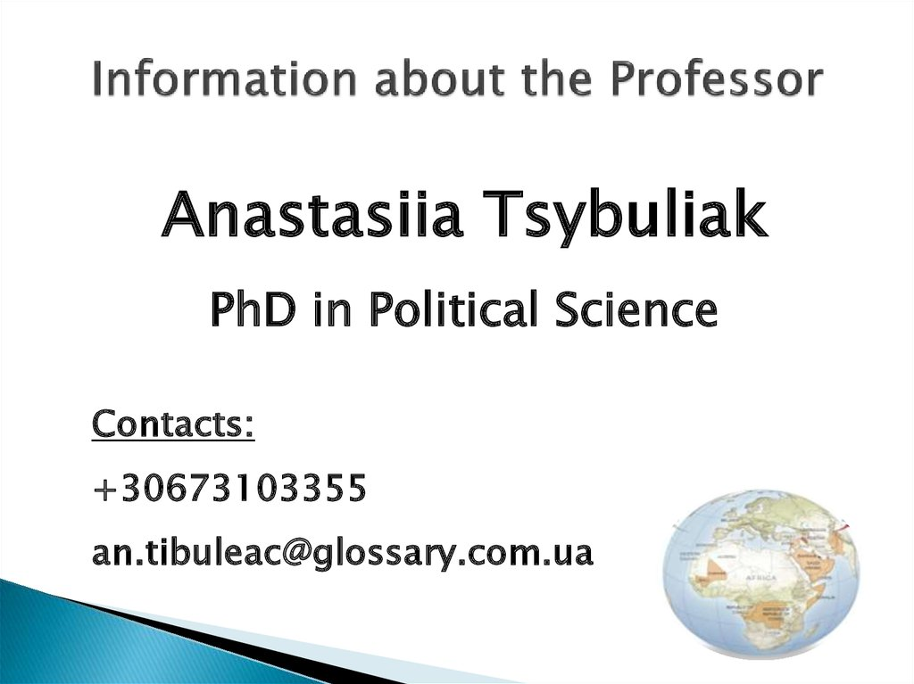 Information about the Professor