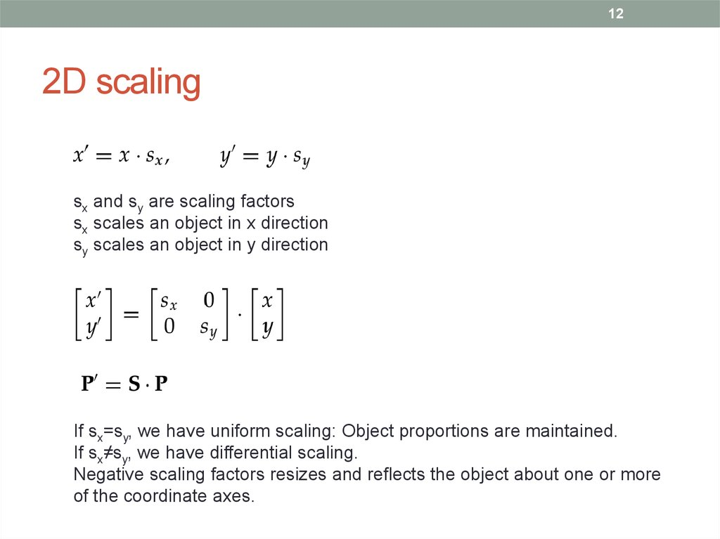2D scaling