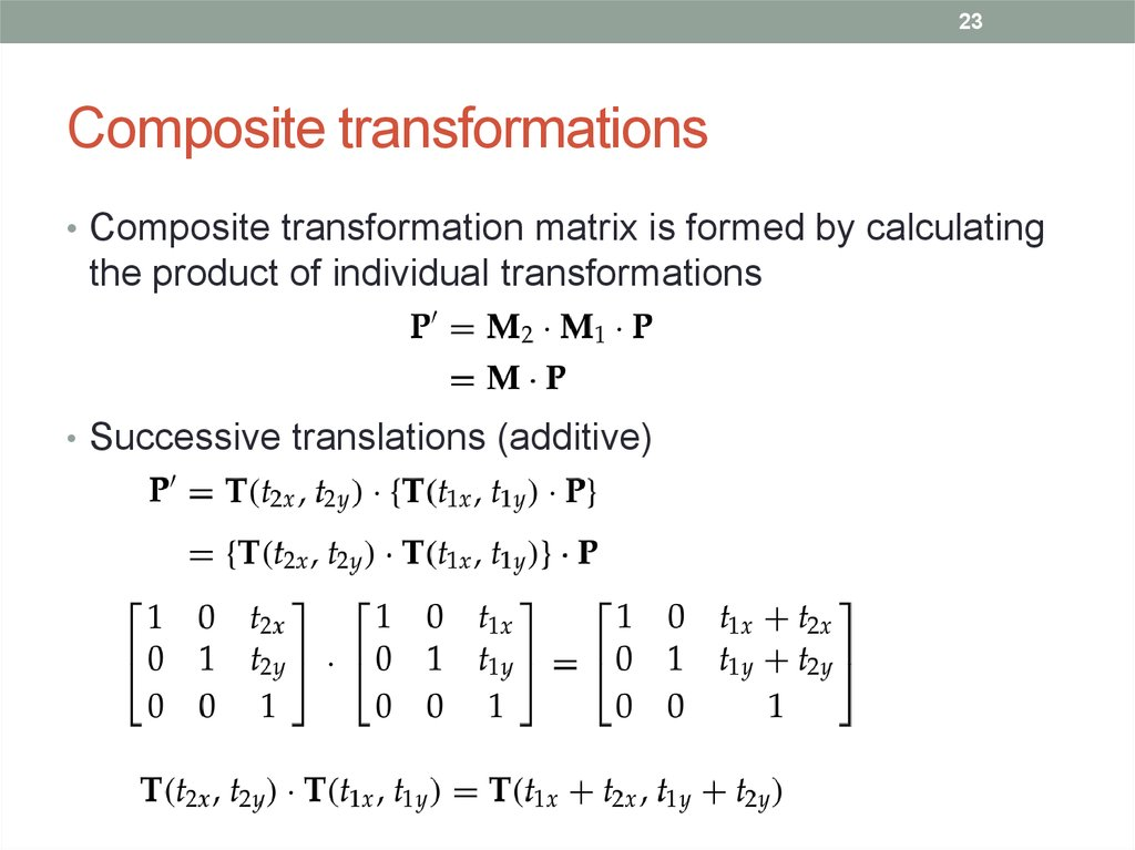 Cmpe 466 computer graphics  2d geometric transformations