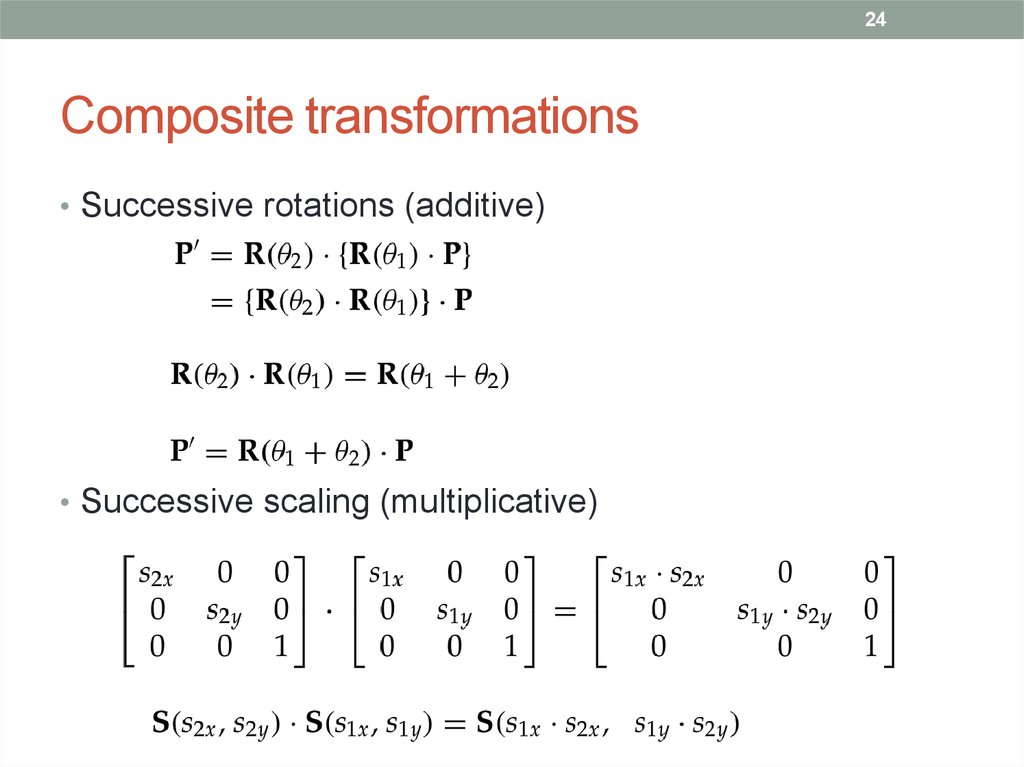 Composite transformations