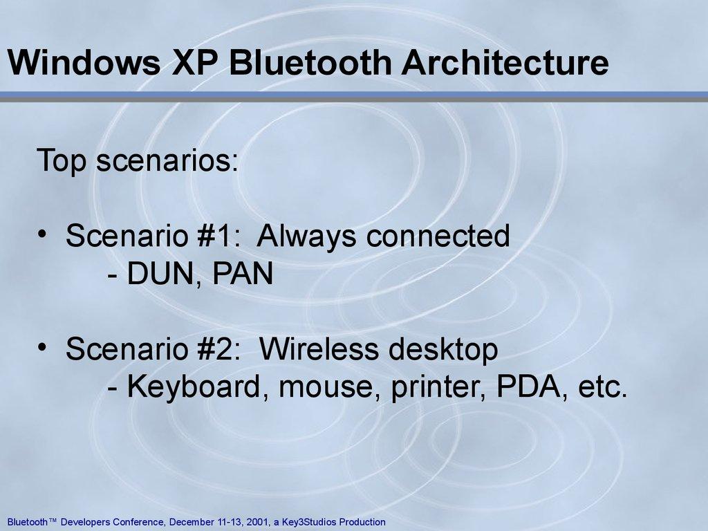 Bluetooth PC Stacks - online presentation