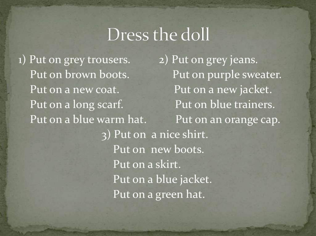 Dress the doll