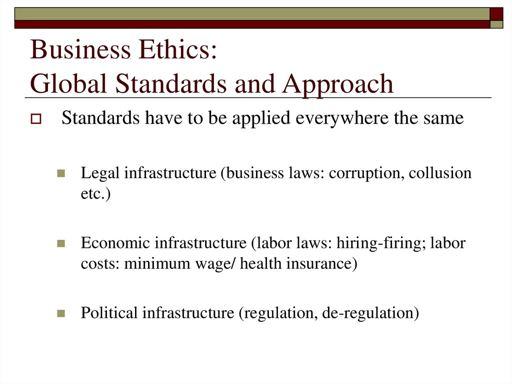 Business Ethics: Global Standards and Approach