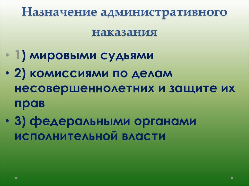 шпаргалка наказаний система административных