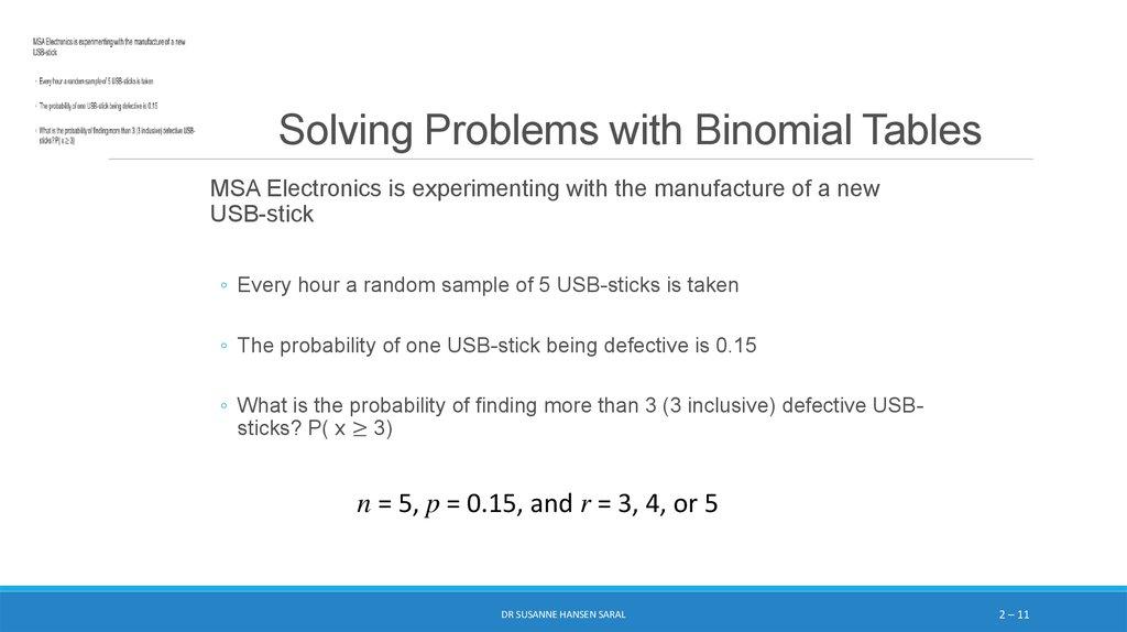 Discrete Probability Distributions: Binomial and Poisson ...