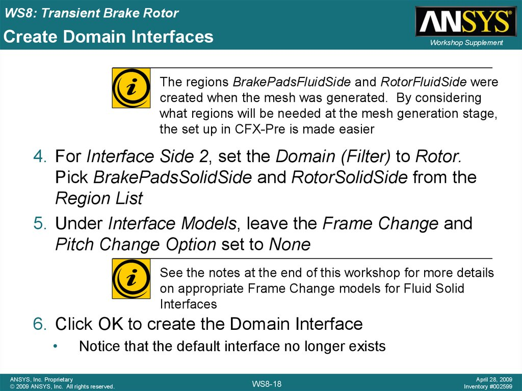 Create Domain Interfaces