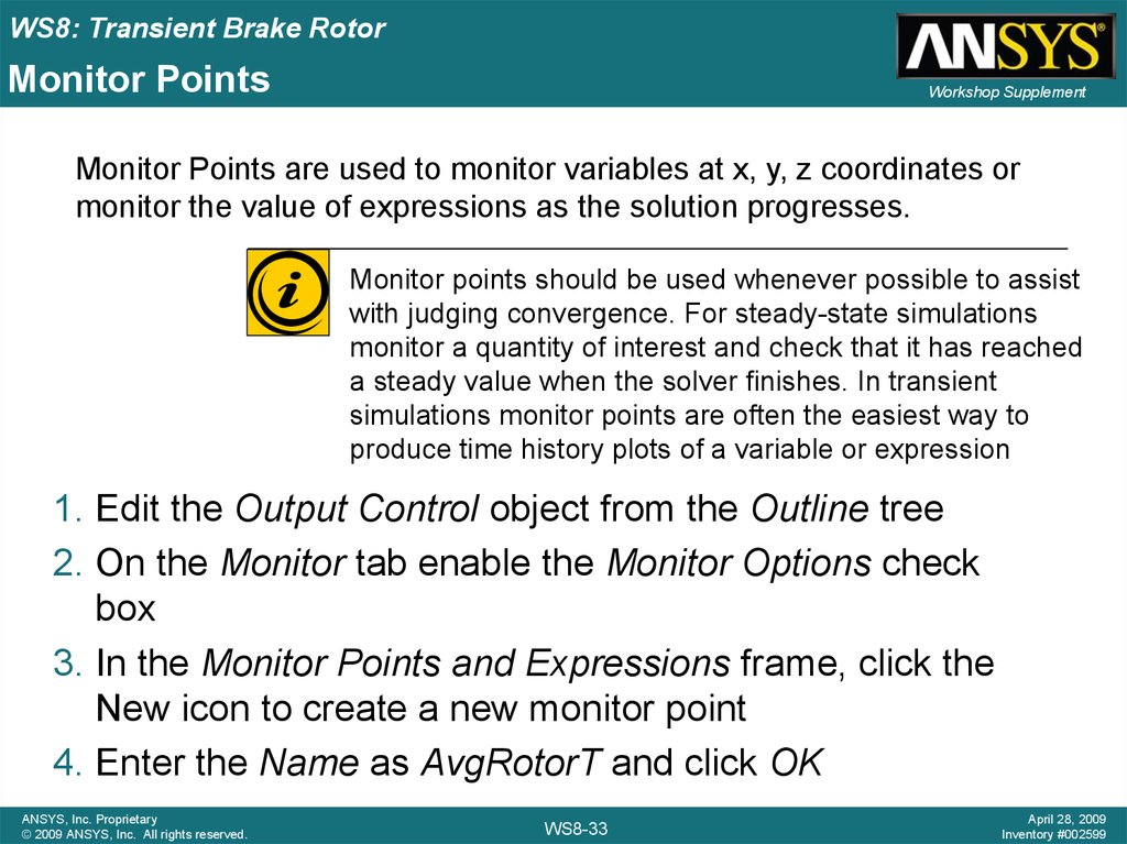 Monitor Points