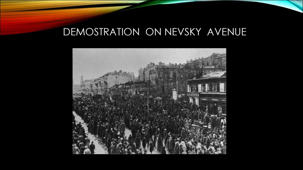 Demostration on Nevsky Avenue