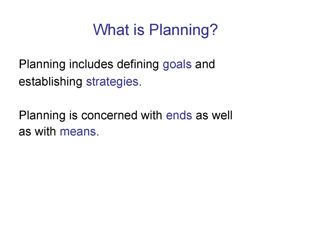advantages of planning ppt