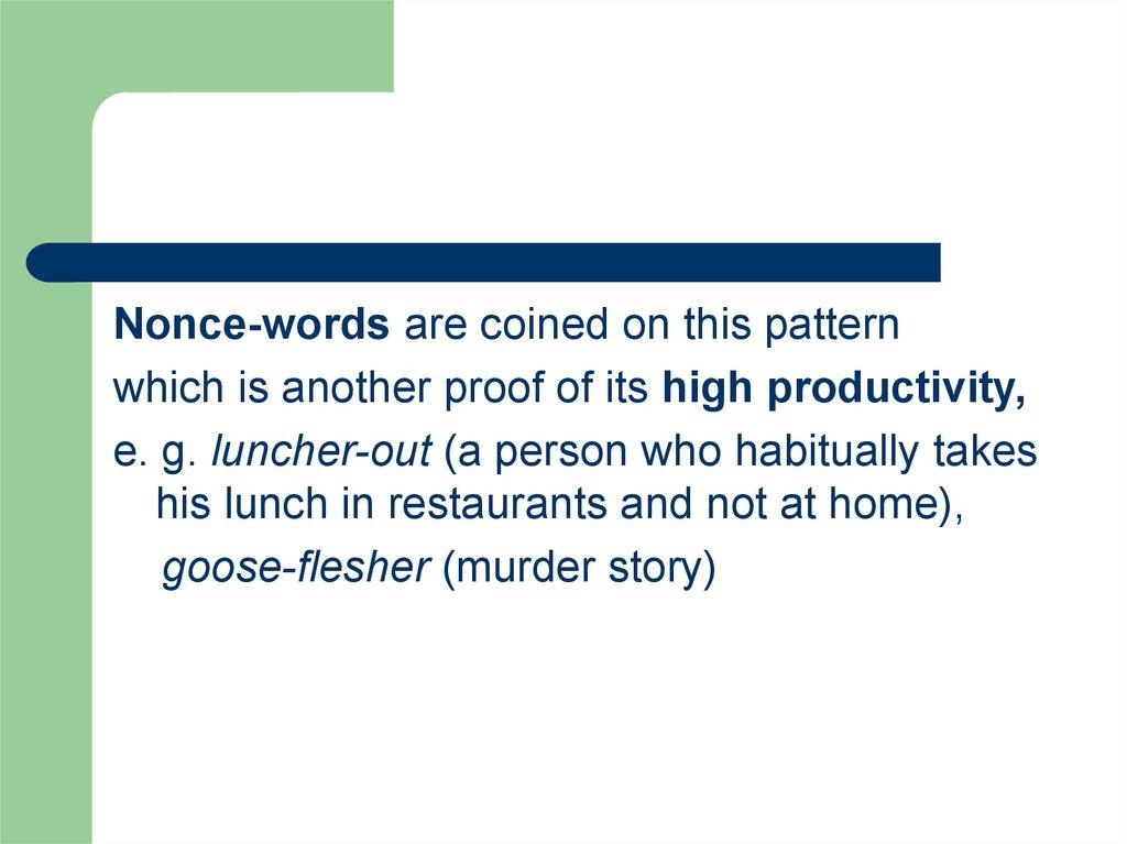 Word-Stock Formation - online presentation