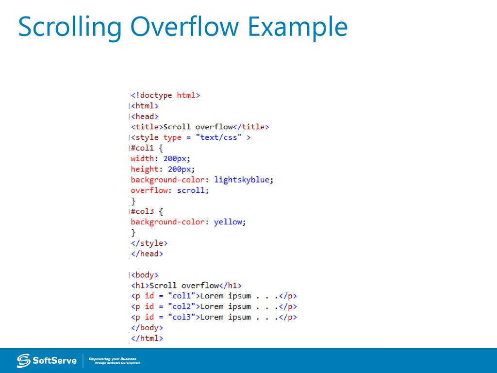 Scrolling Overflow Example