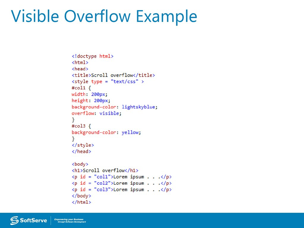 Visible Overflow Example