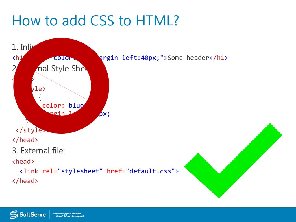 How to add CSS to HTML?