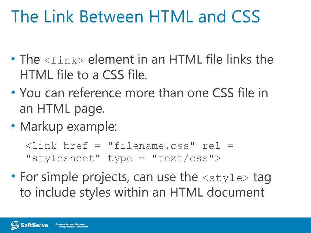 The Link Between HTML and CSS