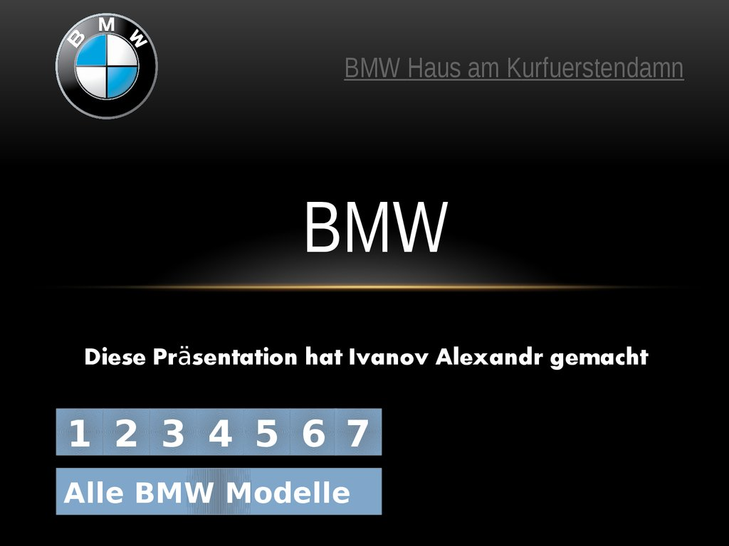 alle bmw modelle online presentation. Black Bedroom Furniture Sets. Home Design Ideas