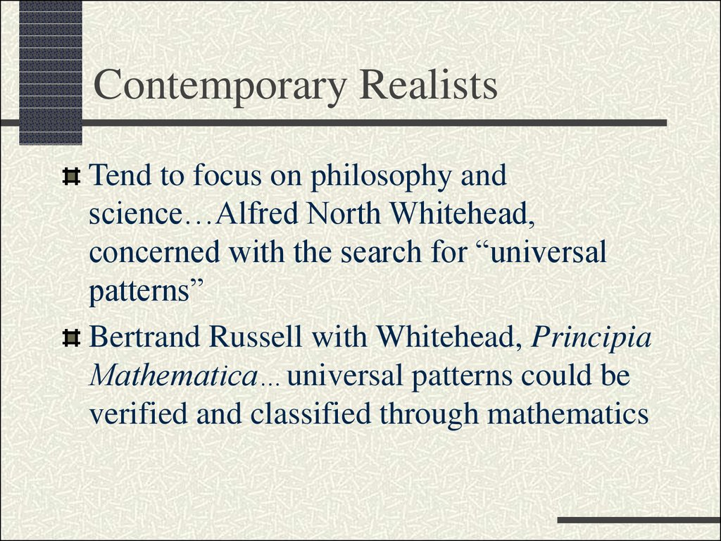 Contemporary Realists