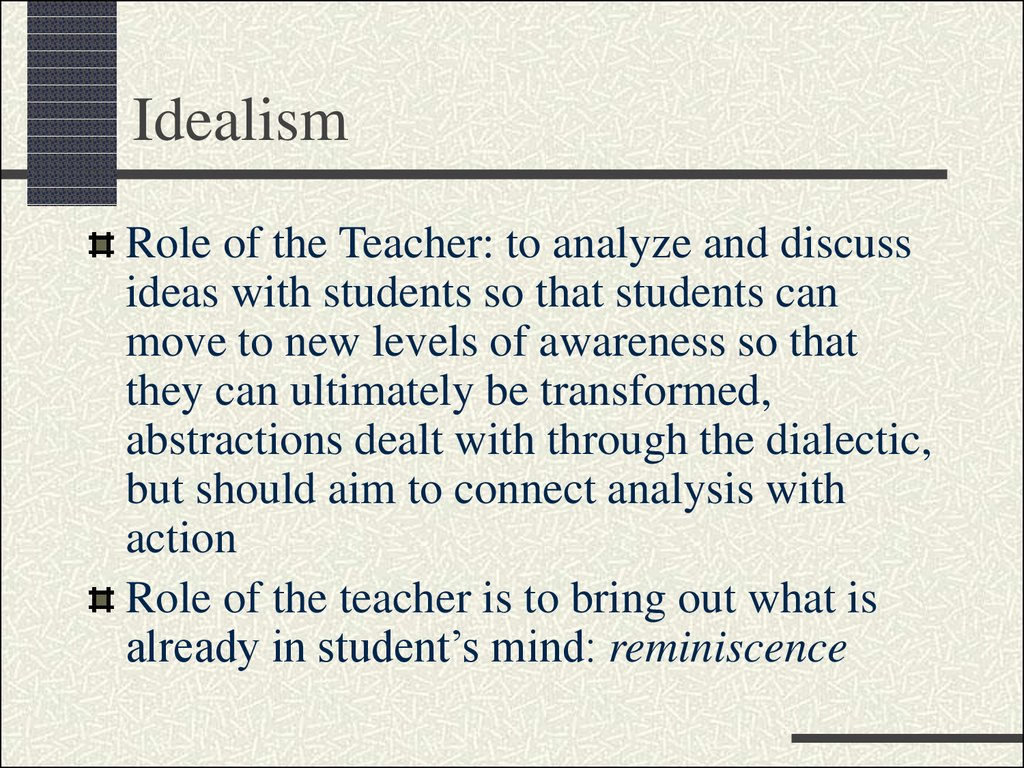 idealism and education ppt