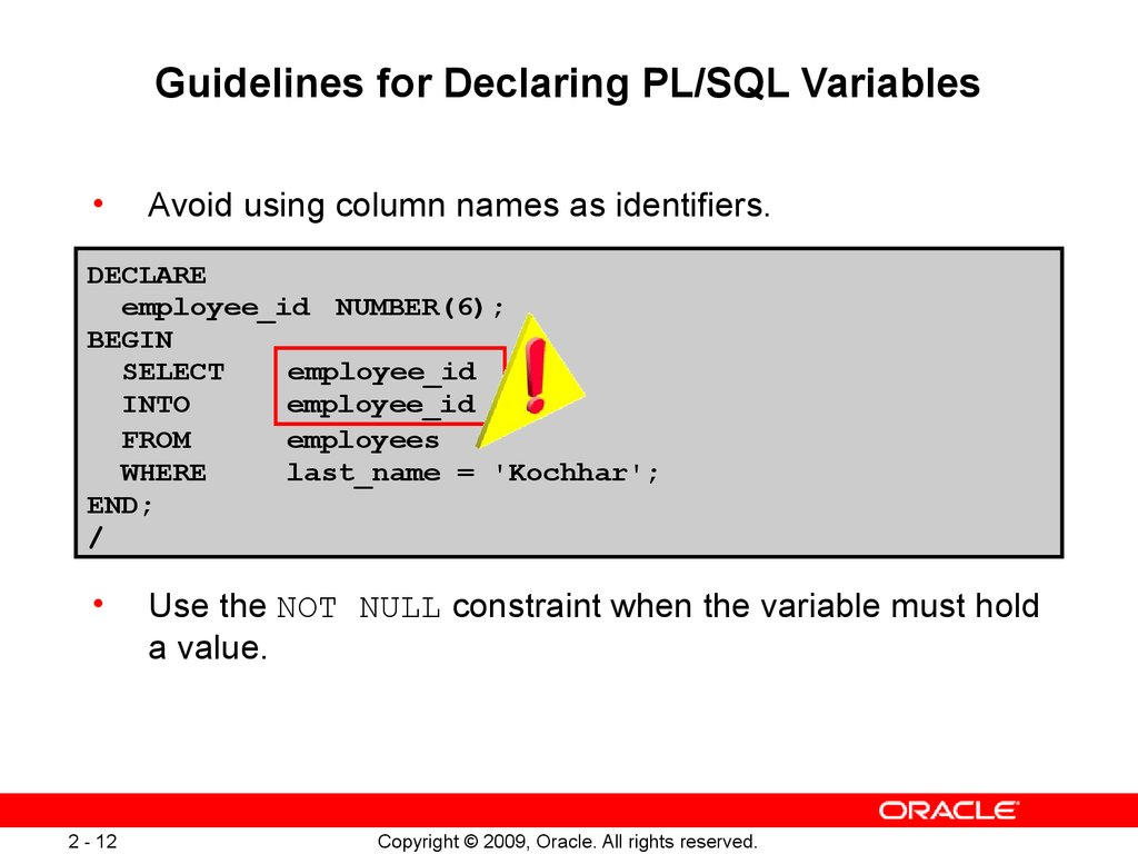 Oracle Get Column Names