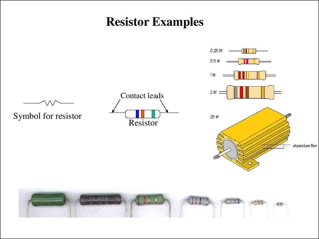 Resistor Examples