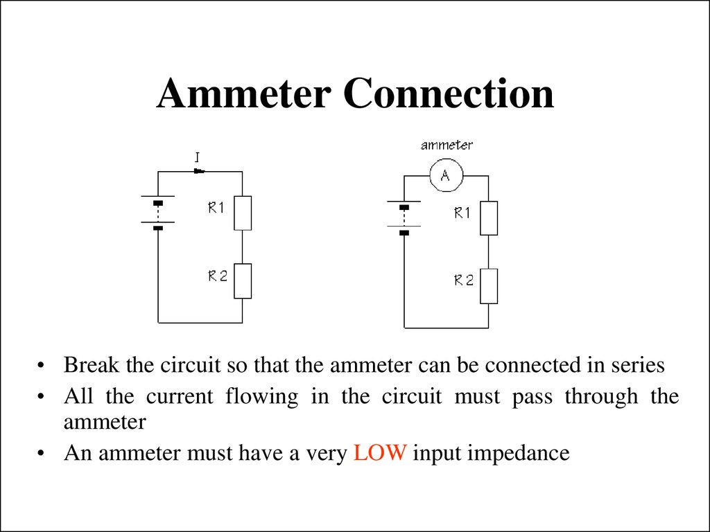 Ammeter Connection
