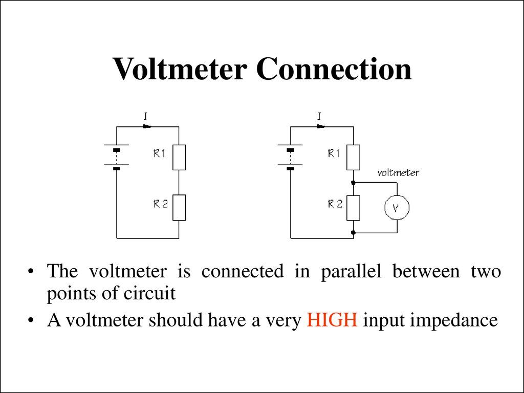 Voltmeter Connection