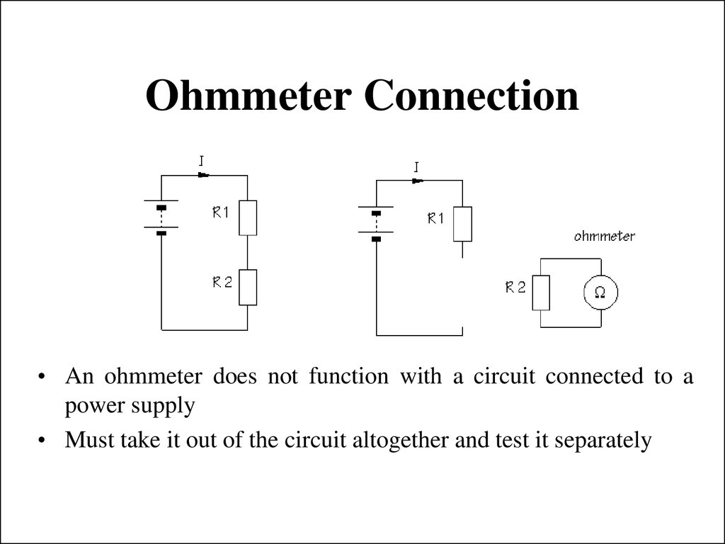 Ohmmeter Circuit Symbol : Introduction to electricity презентация онлайн