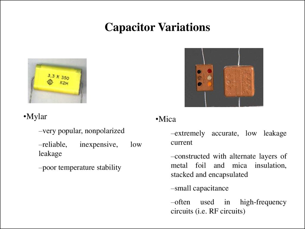 Capacitor Variations