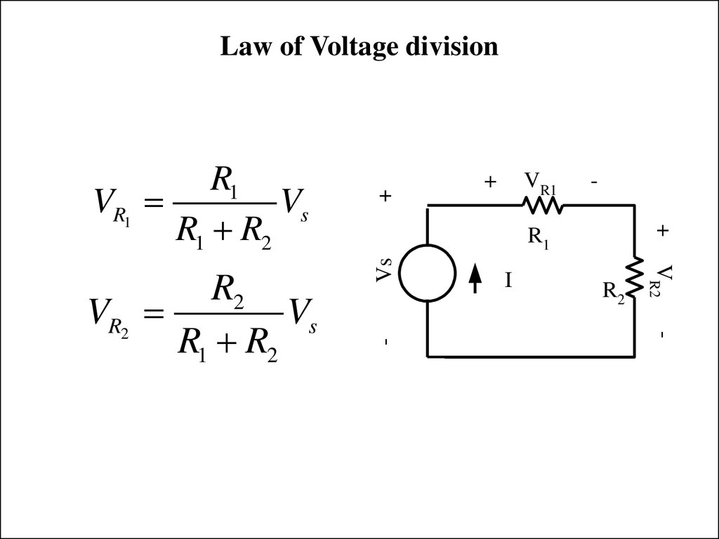 Law of Voltage division