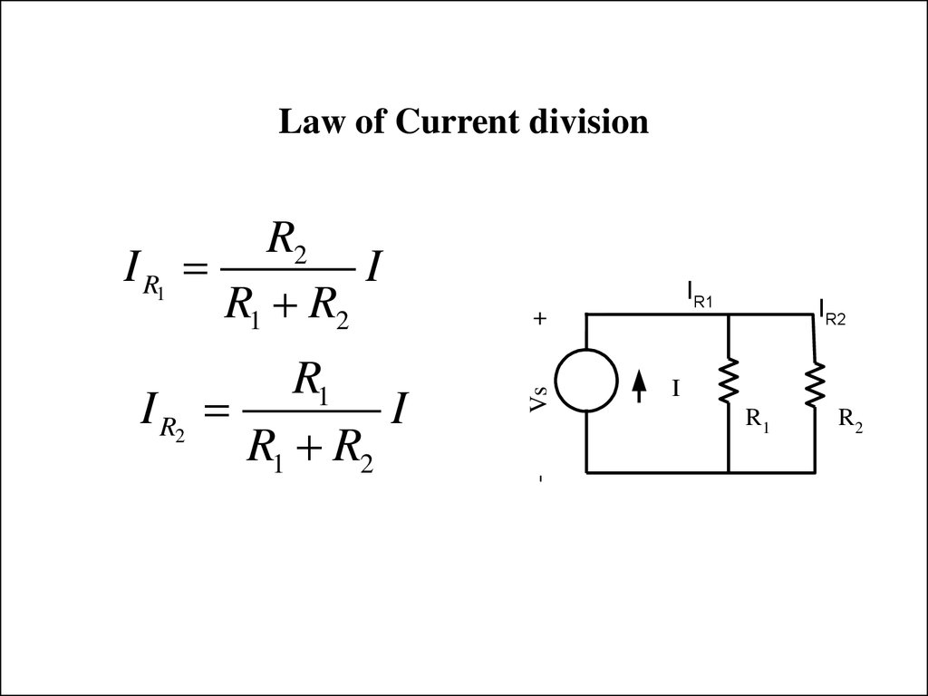 Law of Current division
