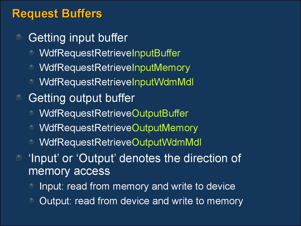 Request Buffers