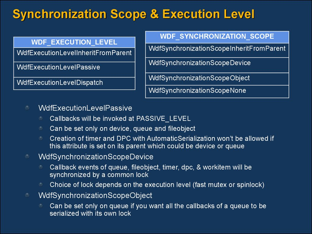 Synchronization Scope & Execution Level
